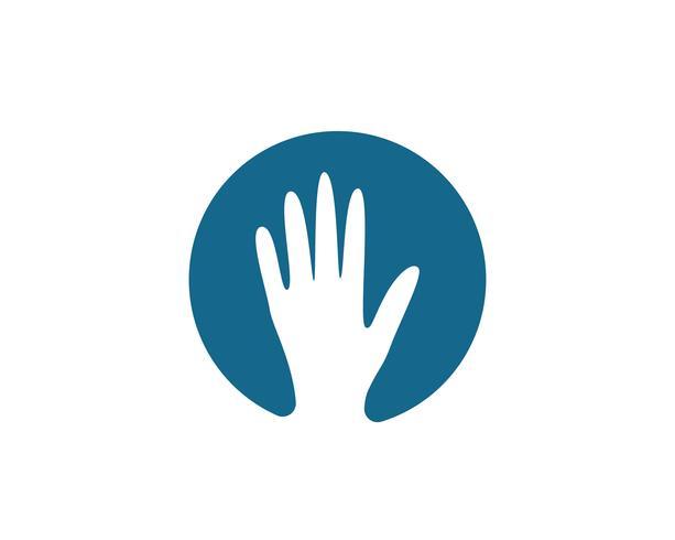 Icona di vettore del modello di cura della mano Logo simboli di affari