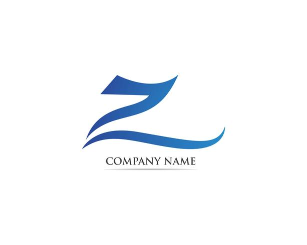 Plantillas de vectores logo Z