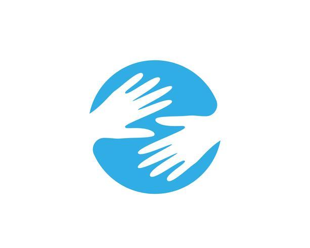 Hand Care Logo Template vector icon Business símbolos