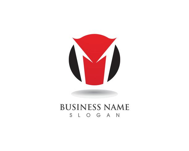 M logo and symbols business vector