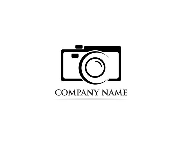 Logotipo de fotografia Vector illustrator preto