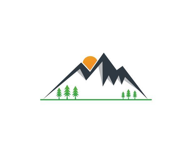Ilustración de vector de logotipo de montaña