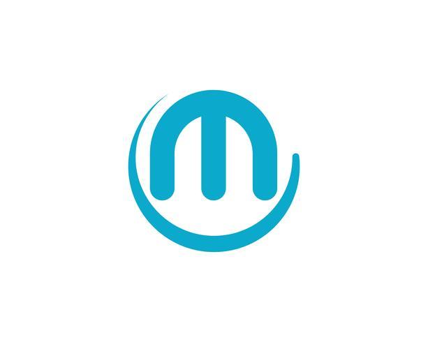 M carta Logo Business Template Vector icono