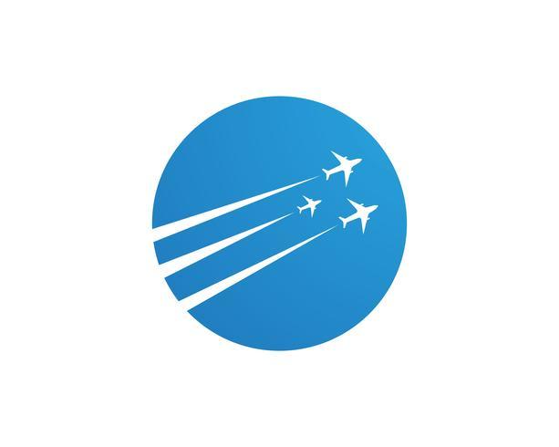 Avión mosca logotipo y símbolos vector plantilla