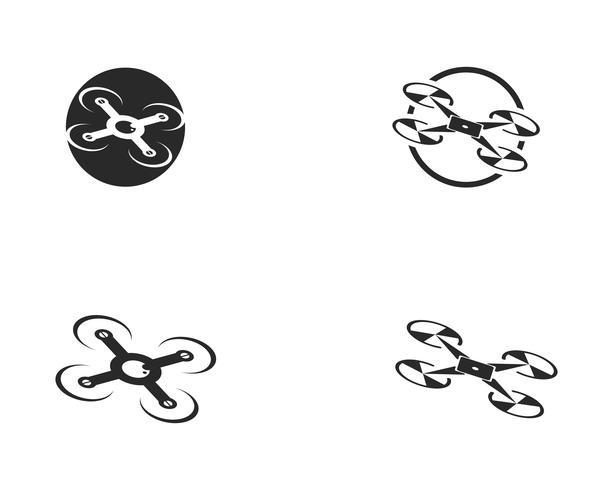 Drone logo e simbolo illustrazione vettoriale