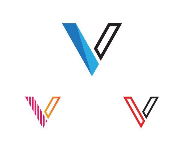 V logo y símbolo de la plantilla de vectores icono