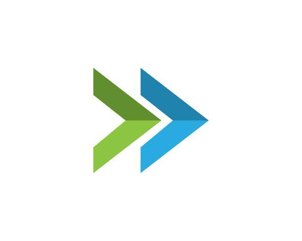 Flechas vector ilustración icono Logo plantilla - Descargar ...