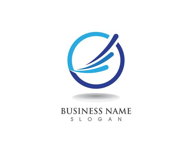 Negócio de logotipo de finanças