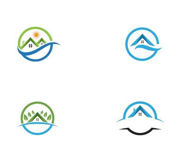 groen huis logo vectoren