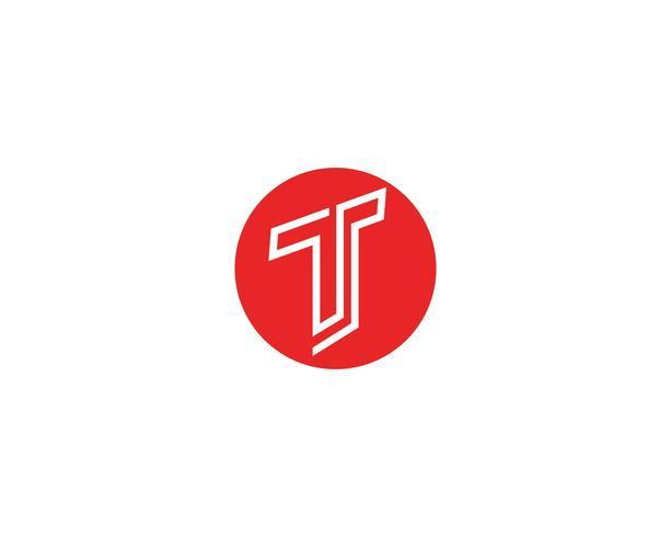 T lettere logo e simboli modello icone app