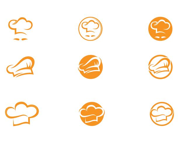Hat chef  logo and symbols vector template
