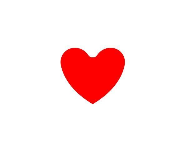 Amor corazón logo y símbolo vector