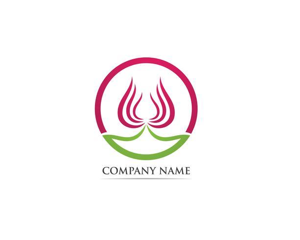 Flower lotus logo vector aard