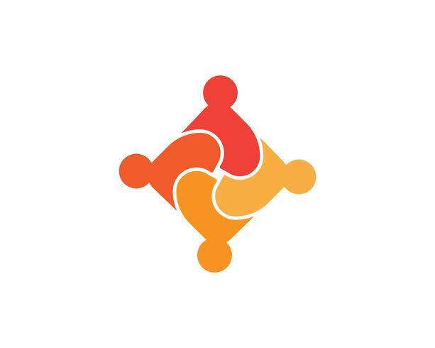 Comunidad, red y plantilla de diseño de iconos sociales.