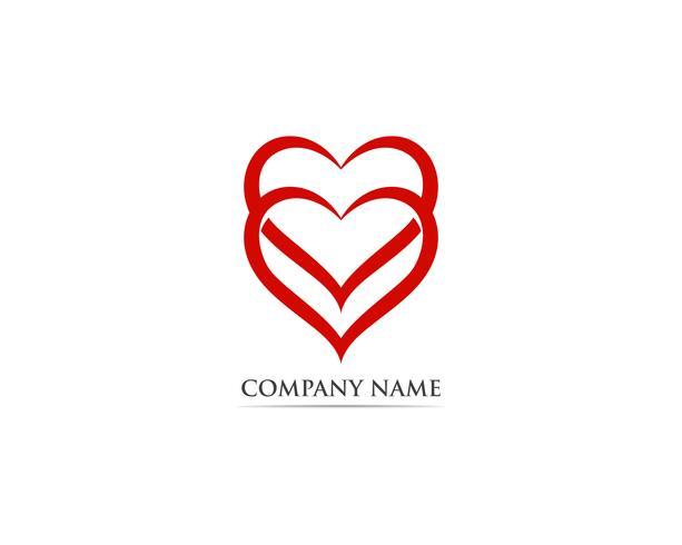 Hou van rood logo en symbool vector