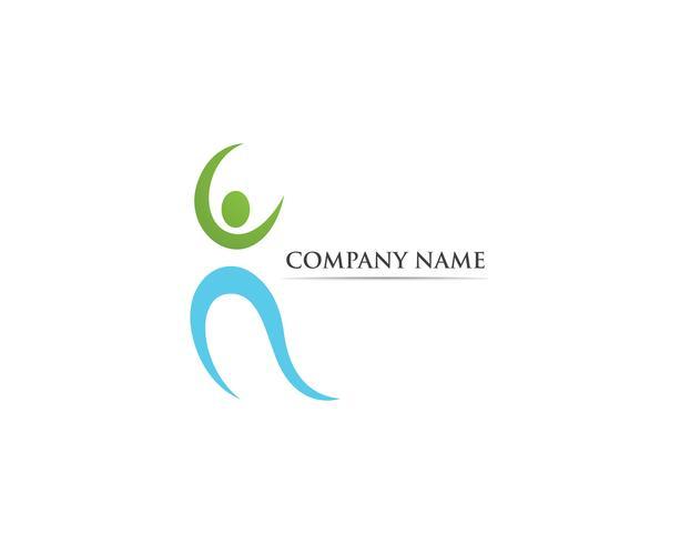 Plantilla de vector de logotipo de salud