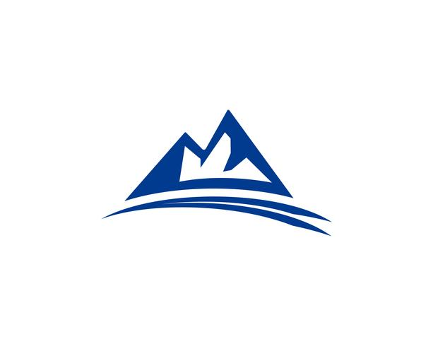 Illustrazione vettoriale di montagna logo