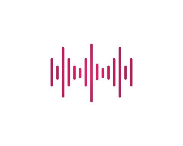 ilustración de onda de sonido vector