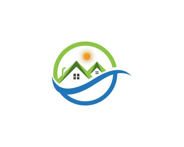 vectores de logotipo de la casa verde