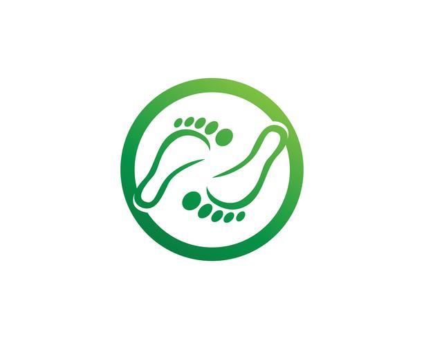 modèle de pied Logo symboles
