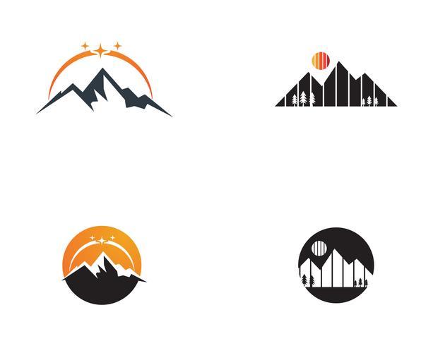 Illustration vectorielle de montagne logo