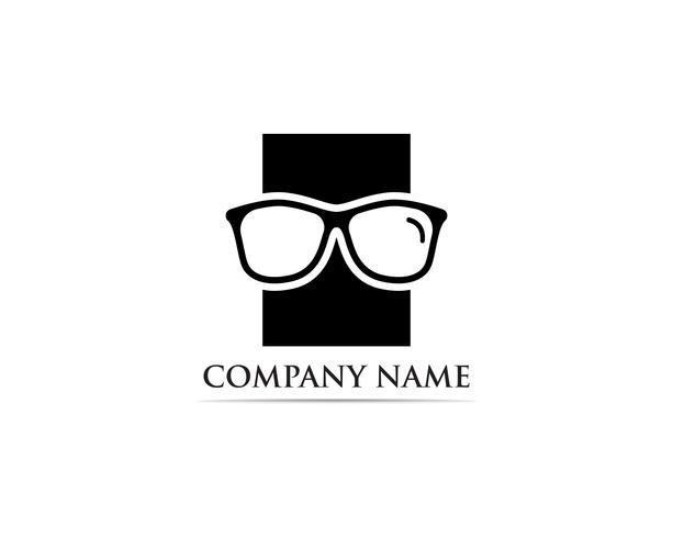 Glazen Logo ontwerp vector