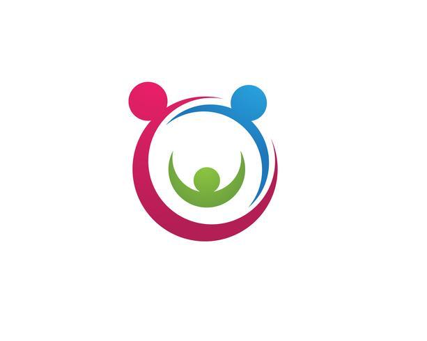 Iconos de vector de plantilla de logotipo de adopción
