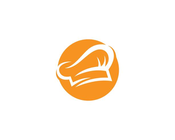 Hoed chef-kok logo en symbolen vector sjabloon