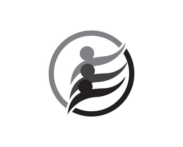 Star community folk grupp logotyp och symboler