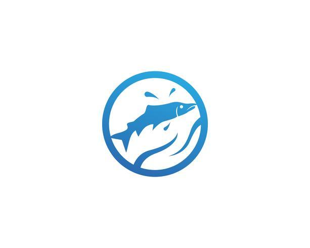pescado vector silueta plantilla salmón negro