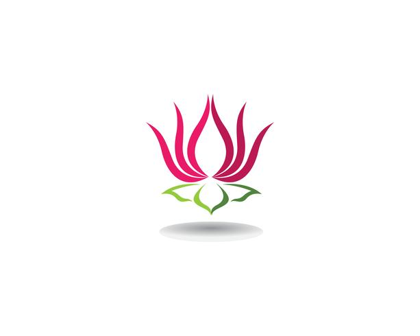 Skönhet Vektor Lotus blommor design logo Mall ikoner