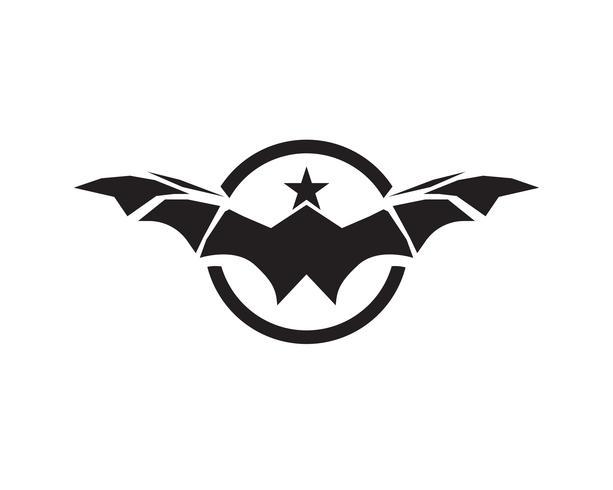 Fledermaus-Vektor-Logos