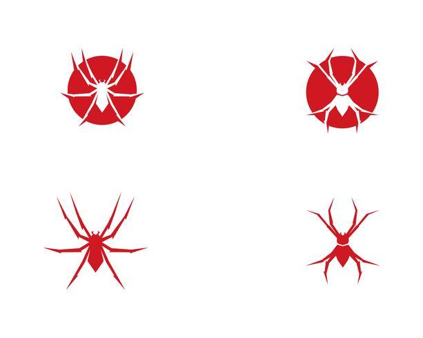 Ilustrações de vetor de logotipo de aranha