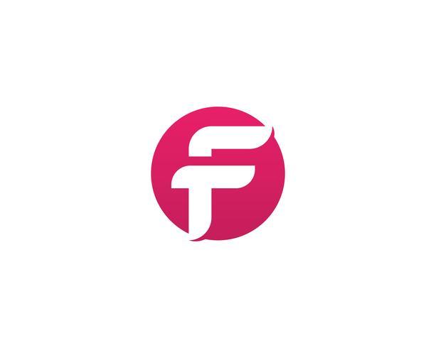Letra de la plantilla del vector de los símbolos del negocio del logotipo de F