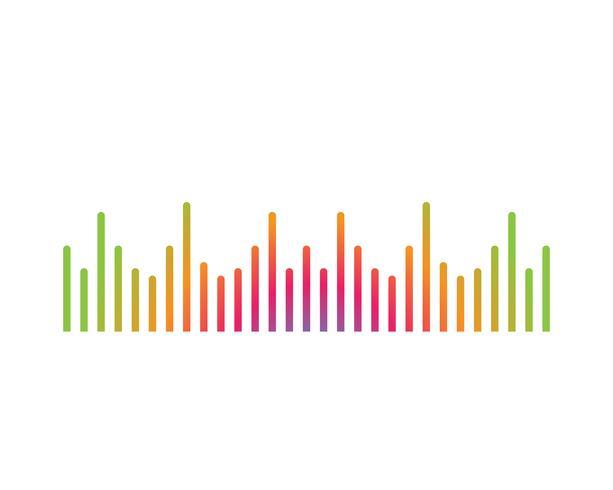 ilustração de onda sonora