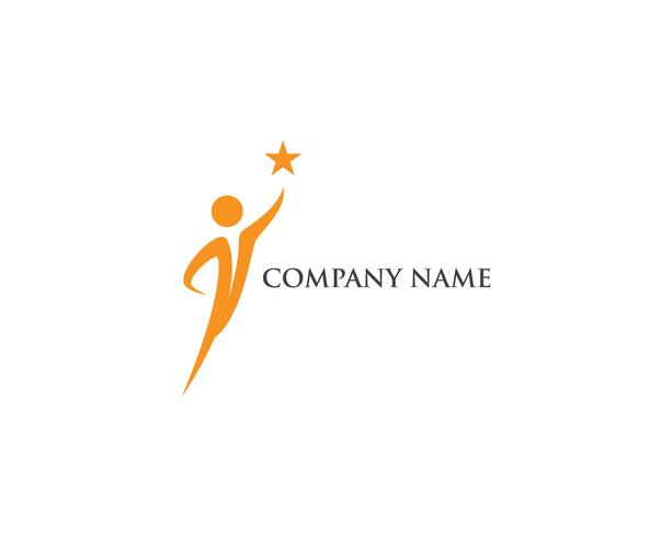 Erfolgsleute-Logo-Vektorschablone