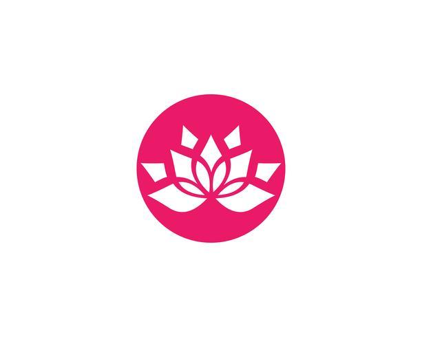 Schoonheid Vector Lotus bloemen ontwerp logo sjabloon pictogrammen