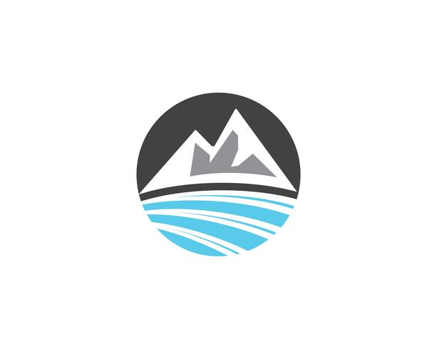 Illustration vectorielle de montagne logo