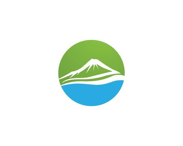 Logotipo e símbolo de vetor de montanha