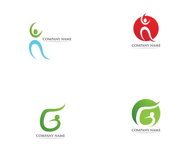 Health care logo vector template