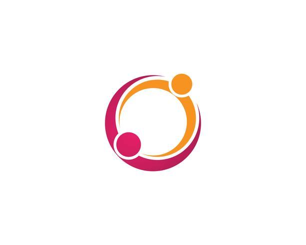 Ícones de vetor de modelo de logotipo de adoção