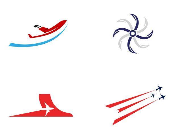 Flugzeugfliegenlogo und Symbolvektorschablone
