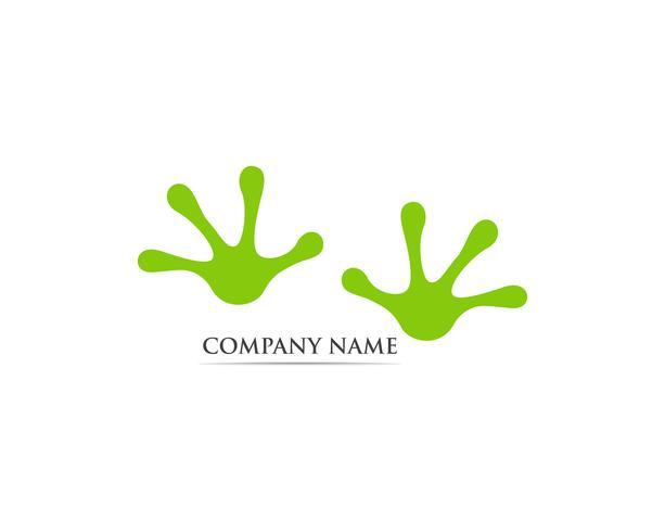 Logo de grenouille et illustration vectorielle symbole