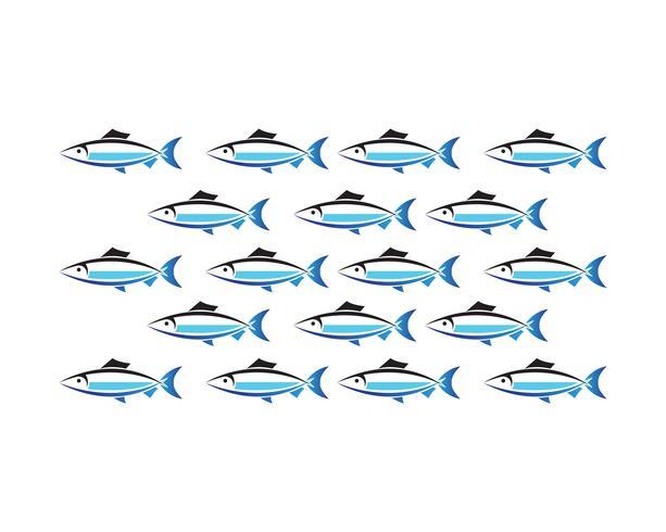 Vis logo sjabloon. Creatief vectorsymbool van visserijclub of online