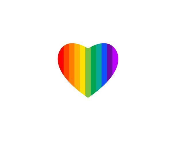 Love rainbow heart shape vector