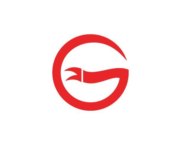 Bannières de logo G logo fond blanc plat isolé