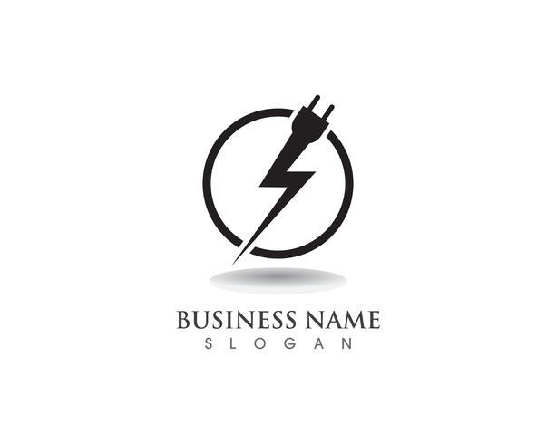 Flash logo y simbolos de cable de potencia