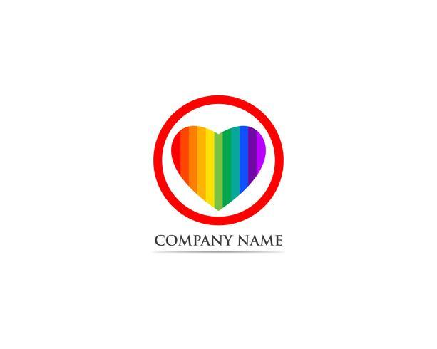 Amour rouge logo et symbole vecteur
