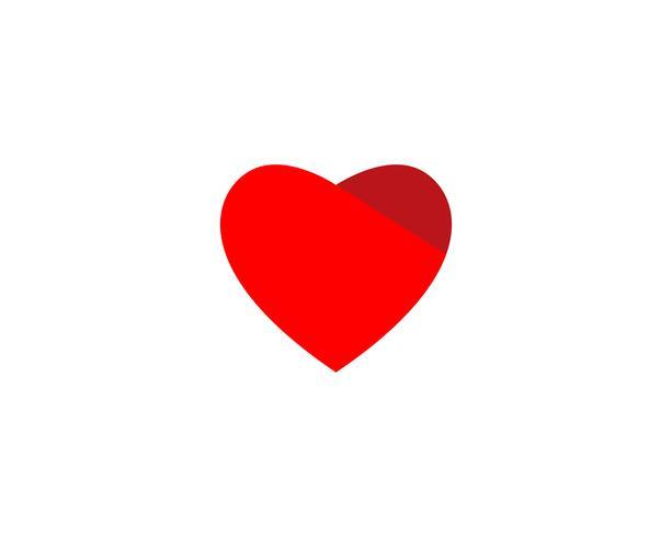 LÖVEN Sie Herzlogo und Symbolvektor