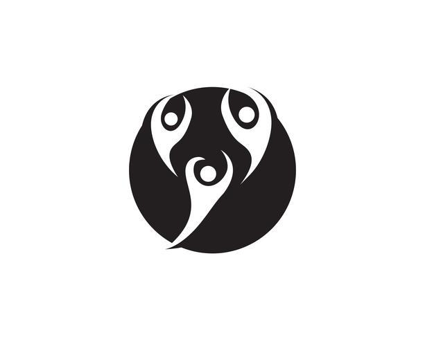 Liderazgo éxito personas logo y símbolo vector